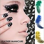 5PCS Real Feather Decals DIY Decorations Nail Art Tools