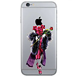 creativo modello fashion girl TPU cassa del telefono il caso di iphone 6 / 6S