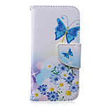 Butterflies Pattern PU Leather Material Phone Case for iPhone 6/6S