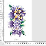 Temporary Tattoos Leg Back Flower Series 3D Waterproof Tattoos Stickers Non Toxic Glitter Large Fake Tattoo Body Jewelry Halloween Gift 22*15cm
