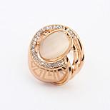 Women's European Fashion Personality Oval Opal Rhinestone Ring