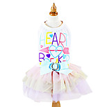 Dog Dress White Winter Bowknot / Letter & Number Fashion