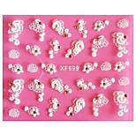 3D Emboss  Flower Rattan Nail Stickers