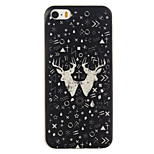 Black Deer Pattern TPU Soft Case Phone Case for iPhone 5/5S