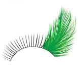 2 Pairs Popular Stage Artistic Exaggeration Handmade  Feather False Eyelashes  For Party Dance Halloween Party Costume