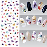 1pcs 3D Colorful Flowers Nail Water Transfer Stickers