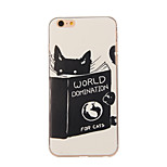 Books And Cats Pattern TPU Soft Case Phone Case for iPhone 6/6S