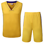 Hauts/Tops / Bas / Shirt ( Jaune / Blanc / Noir / Violet ) - Fitness / Basket-ball - Sans manche - Homme