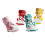 Dog Socks & Boots & Sneakers Red / Blue / Pink / Yellow Spring/Fall Fashion