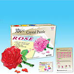 Rose Red/Pink/Blue/Yellow 3D Puzzles DIY Toys Modeling Toys
