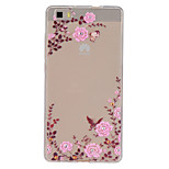 Garden Pattern Slim Relief TPU Material Phone Case for P8 Huawei Lite