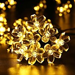 roi ro jardin extérieur imperméable lumières chaîne solaire 26.24ft 60LED fleurs fête de noël lumineux décoration