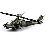 Boeing AH-64 Apache Helicopter Gunships 3D Puzzles Paper DIY Toys Modeling Toys