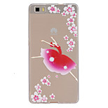 Dancing Girl Pattern Slim Relief TPU Material Phone Case for P8 Huawei Lite