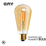 1 pcs GMY E26 3W 4 COB ≥300 lm Warm White ST21 edison Vintage LED Filament Bulbs AC120V 2200K