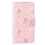 Bear Pattern Embossed PU Leather Case for iPhone 5/iPhone 5S/iPhone SE