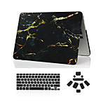 3 en 1 caso de mármol de cuerpo completo + cubierta del teclado + enchufe del polvo para el MacBook Pro de 13
