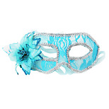 Women's Sexy Lace Flower & Feathers Face Mask for Dancing Party