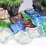 das Glasmaterial Stein / Felsen Ornament Dekoration für Fischaquarium Multicolor