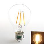 1 pièce Zweihnder E26/E27 4W 4 COB 380 lm Blanc Chaud A60(A19) edison Vintage Ampoules à Filament LED AC 100-240 V