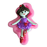 Ballet Girl Style Sugar Candy Fondant Cake Molds  For The Kitchen Baking Molds