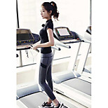 Women's Clothing Sets/Suits Sport Breathable / Sweat-wicking / Soft Black Yoga / Pilates / Fitness / Running