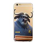 Arrogant Animals Pattern TPU Transparent Phone Case Back Cover Case for iPhone6 Plus/6S Plus