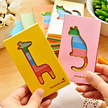 Creative Hollowed-out Animal Pattern Colorful Notebook(1 PCS Random Color)