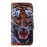 Tiger Painted PU Phone Case for iphone5SE