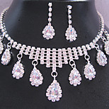 Z&X® Crystal Jewelry Set Necklace/Earrings Wedding / Party 1set