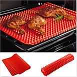 assadeira do forno pirâmide bandeja vermelha antiaderente silicone panificação tapete de molde cozinhar mat