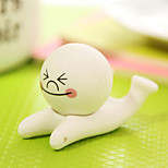 Steamed Bread Man Design Rubber Holder for iPhone and Samsung(1 PCS)