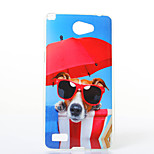 Glasses Dog Pattern TPU+IMD Soft Case for LG L Bello 2