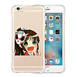 estuche blando a prueba de golpes bailarín fantasma transparente de silicona para el iPhone 6 más / 6s más (colores surtidos)