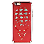 Rivet Leather Series Anchors Pattern Red Plating Silver Round-Dots Soft TPU Case for iPhone6/6S