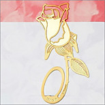 2PCS New Stylish  Reading Gold Golden Rose Style Metal Bookmark Book Marks Label Present(Style random)