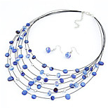 Z&X® Crystal Jewelry Set Necklace/Earrings Party / Daily / Casual 1set