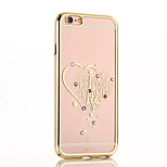 I Love You Love with Color Drill PC Shell Plating for iPhone6/iPhone 6s(Assorted Colors)