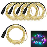 Jiawen 5pcs / lot 5m wasserdichte flexible 3w 50-0603 smd RGB-LED-String-Licht - Silber (DC 12V)
