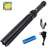 LS1787 Powerful 3800 Lumens 3-Mode CREE XM L2 Telescopic Baton Self Defense Police Patrol LED Flashlight Suit