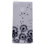 motif de pissenlit matériau tpu étui transparent soft phone pour Huawei Ascend p9 / Ascend p9 Lite