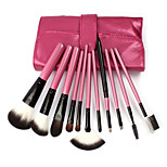 11Pcs Rose Red High-Grade Makeup Brushes Makeup Tools Makeup Brush Sets