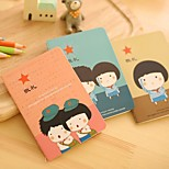 6PCS Lovely Stationery Notebook With This Time(Style random)