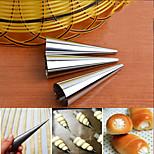 3шт / набор Инструменты для выпечки Круглый Повседневное использование Для торта Хлеб Торты Для приготовления пищи Посуда Нержавеющая