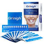 Grinigh® Teeth whitening Strips plus Whitening Pen - Professional Teeth Whitener Home Kit Includes NATURAL Ingredients