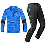KORAMAN Spring and Autumn Men's Sports Suit Long Sleeve Jersey and Pants Breathable Quick-dry