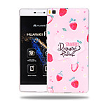 Strawberry Powder Pattern Soft TPU Back Cover Case for Huawei Ascend P8