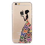 Butterfly Skirt girl Painted Pattern Hard Plastic Back Cove For iPhone6Plus/6SPlus 5.5