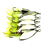 5pcs 60mm 6g Fishing Spinner Bait Metal Lure