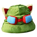 League of Legends Dark Green,Light Green Corduroy Cosplay Hat